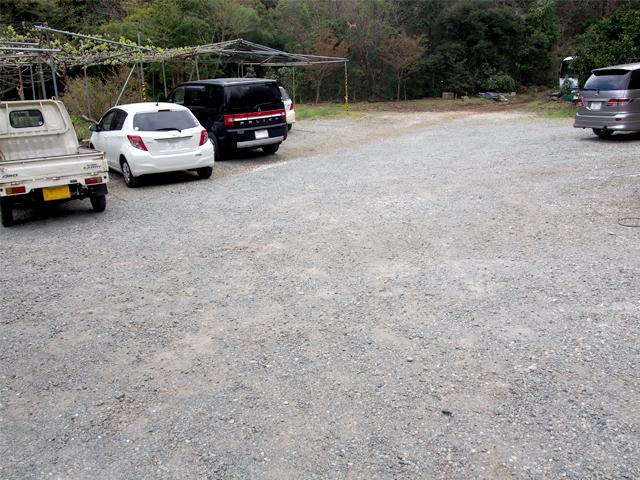 峯自然園の駐車場です。